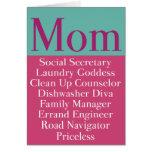 Mamá - tarjeta del día o del cumpleaños de madre