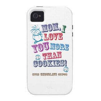 ¡Mamá te amo más que las galletas! Case-Mate iPhone 4 Carcasa