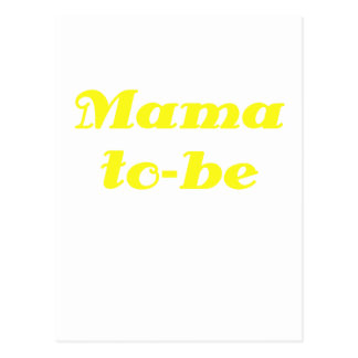 Mama to be postcard