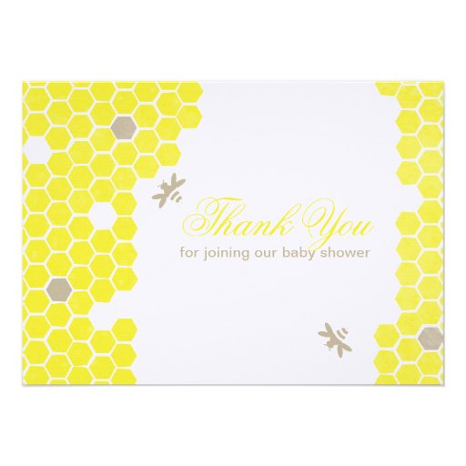 Mama to bee Thank You Card Invitations