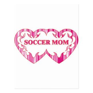 Mamá tribal del fútbol de los pares del corazón postal