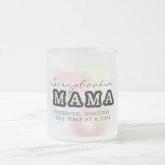 Mamá Tshirts y regalos de Scrapbooking Taza Cristal Mate