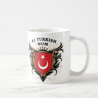 Mamá turca del número uno taza de café
