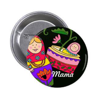 Mama Ukrainian Folk Art Buttons
