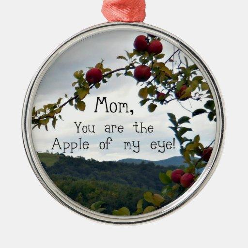 ¡Mamá, usted es Apple de mi ojo! Adornos De Navidad