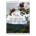 ¡Mamá, usted es Apple de mi ojo! Tarjetas