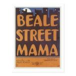 Mamá Vintage Songbook Cover de la calle de Beale Postales