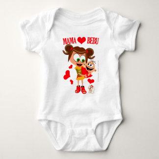 Mama Voli Bebu - Bodici - Beli T Shirt