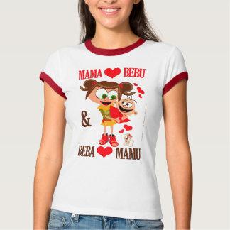 Mama Voli Bebu (Mommy Loves Baby) white 02 T-Shirt