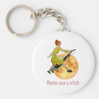 Mama Was a Witch Basic Round Button Keychain