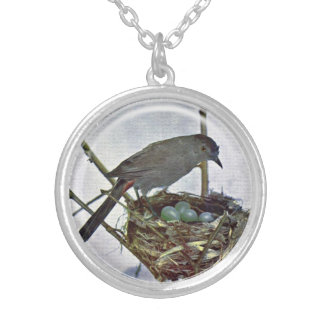 Mama Watching Over Babies Nest Pendant