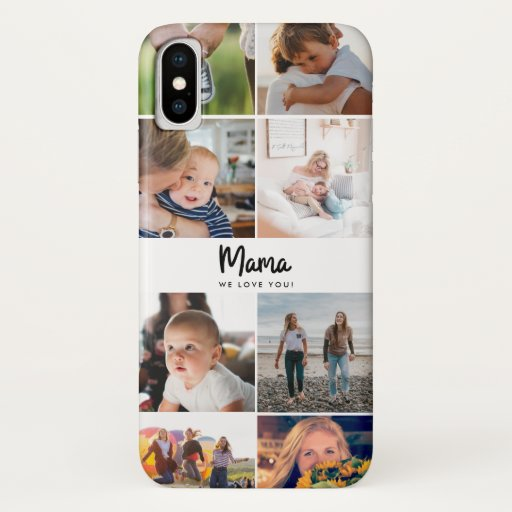 Mama We Love You Quote Instagram Photo iPhone XS Case