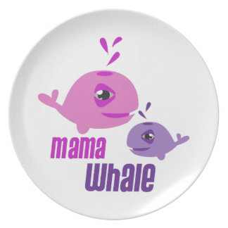 Mama Whale Party Plate