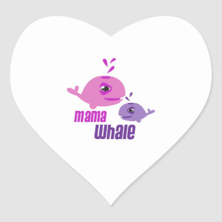 Mama Whale Stickers