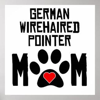 Mamá Wirehaired alemana del indicador