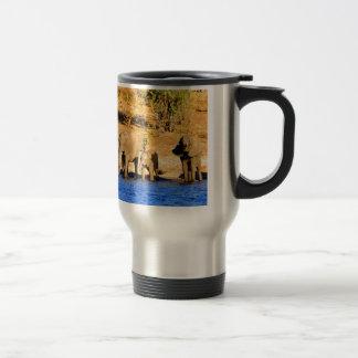 mamá y amor del elefante tazas de café