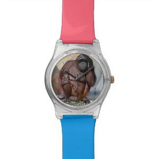 Mamá y bebé del orangután relojes