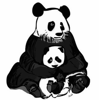 Mamá y Bebé Panda/Mother and Baby Panda Cutout