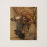 Mamá y bebés lindos del conejo del angora del saté rompecabezas con fotos