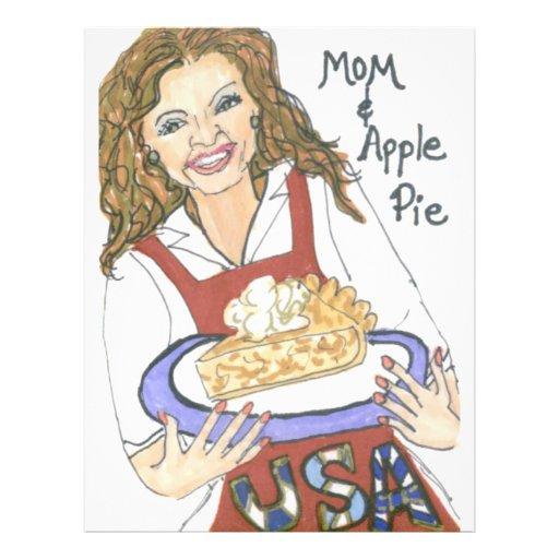 """Mamá y empanada de Apple Folleto 8.5"""" X 11"""""""