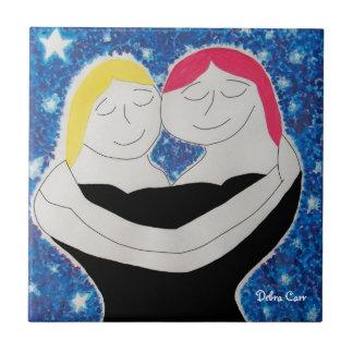 Mamá y Mí-teja Azulejo Cuadrado Pequeño