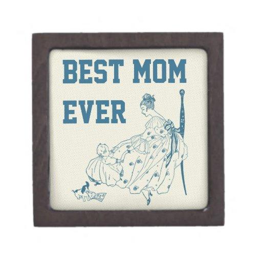 Mamá y niño - la mejor mamá del vintage nunca caja de regalo de calidad