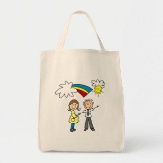 Mamá y papá a ser camisetas y regalos bolsa de mano