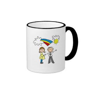 Mamá y papá a ser camisetas y regalos taza de café