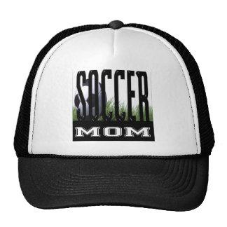 Mamá y papá del fútbol gorro de camionero