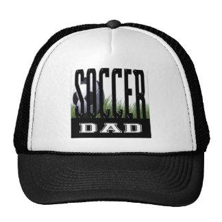 Mamá y papá del fútbol gorros