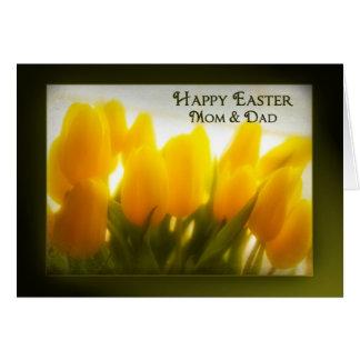 Mamá y papá felices de Pascua Tarjeta De Felicitación