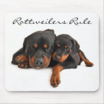 Mamá y perrito Rottweiler Mousepad de la regla de  Tapetes De Raton