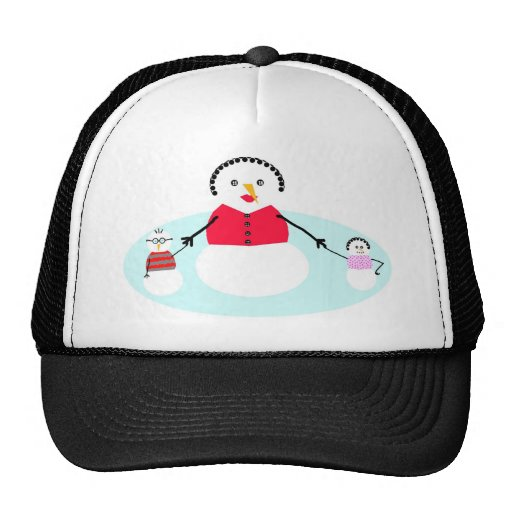 Mamá y su nieve gorras
