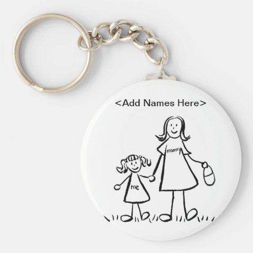 Mamá y yo llavero (el personalizar nombra la