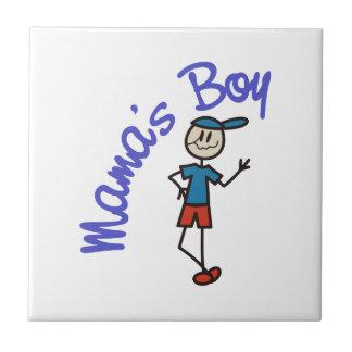 Mamáes Boy Azulejo Cuadrado Pequeño