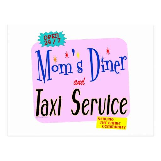 Mamáes comensal y refrán divertido del servicio tarjetas postales
