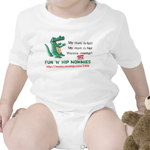 mamáes de la cadera de la diversión n de 6-12 mese camisetas