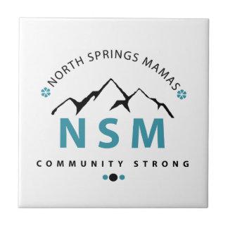 Mamáes de North Springs Azulejo Cuadrado Pequeño