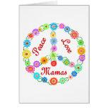 Mamáes del amor de la paz felicitaciones