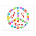 Mamáes del amor de la paz postal
