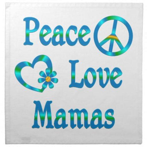 Mamáes del amor de la paz servilletas