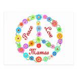 Mamáes del amor de la paz tarjeta postal