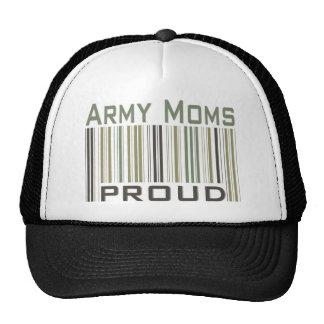 Mamáes del ejército orgullosas gorras de camionero
