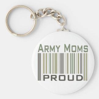 Mamáes del ejército orgullosas llaveros