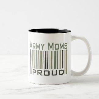 Mamáes del ejército orgullosas taza