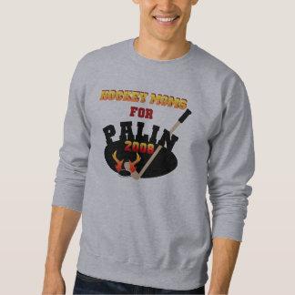 Mamáes del hockey para la camiseta básica de Palin Sudaderas
