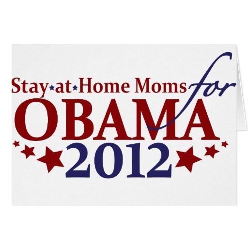 Mamáes para Obama 2012 Felicitación