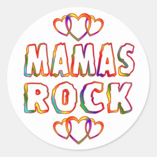 Mamáes Rock Pegatina Redonda