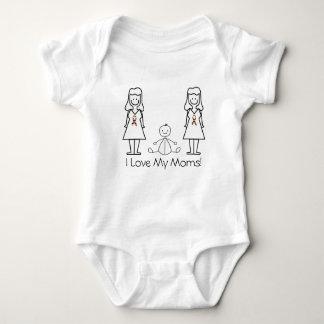 Mamáes y bebé del personalizable LGBT 2 T Shirts