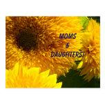 ¡Mamáes y hijas! Acontecimientos del alumerzo de l Postales